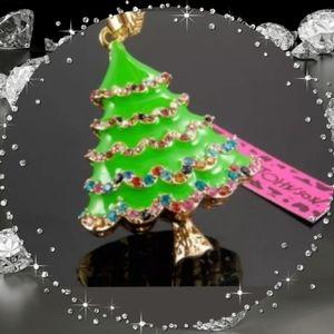 Betsey Johnson Christmas Tree Necklace
